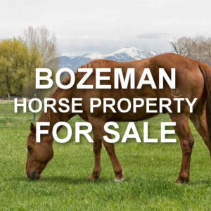 Bozeman Horse Property For Sale
