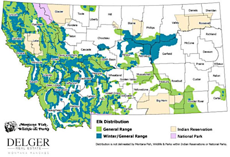 Montana Elk Hunting Property Map