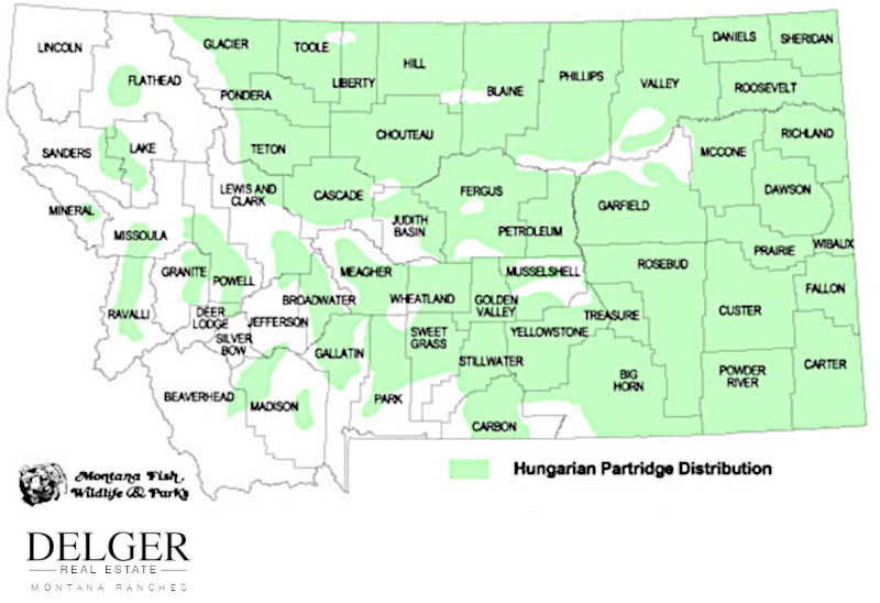 Montana Partridge Hunting Property Map