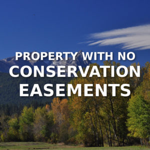 Property With No Conservation Easements For Sale